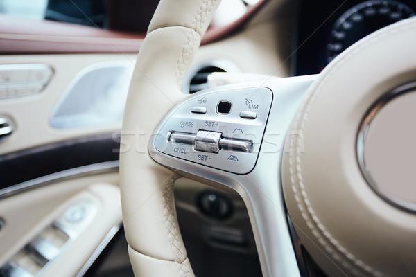 Control botones volante coche interior superficial Foto stock © sarymsakov