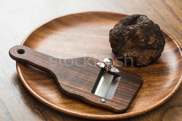 Delicatezza funghi nero rare costoso vegetali Foto d'archivio © sarymsakov