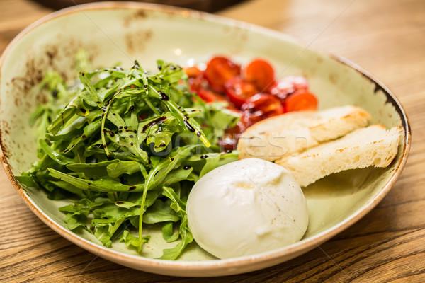 Mozzarella peynir domates ekmek seçici odak gıda Stok fotoğraf © sarymsakov