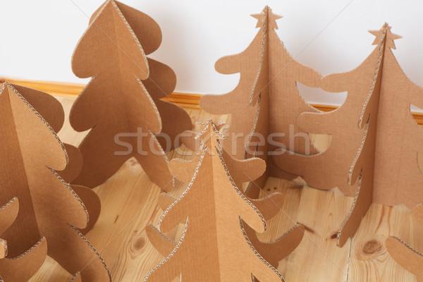Noel ağacı karton yılbaşı ağaçlar kâğıt Stok fotoğraf © sarymsakov