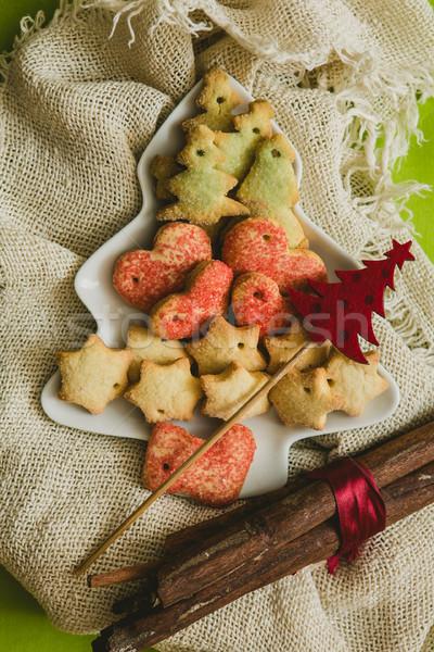 Noel kurabiye dekorasyon seçici odak sıcak Stok fotoğraf © sarymsakov