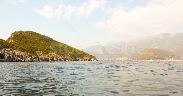 Montenegró kövek átlátszó óceán víz égbolt Stock fotó © sarymsakov