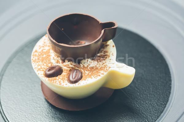 ティラミス デザート シナモン コーヒー 食品 光 ストックフォト © sarymsakov