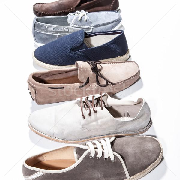 Set of man footwear on a white background Stock photo © sarymsakov