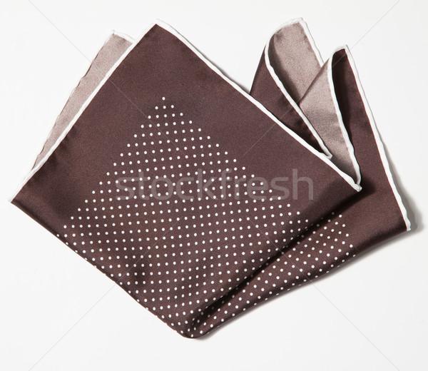 Cotton squared brown handkerchief Stock photo © sarymsakov