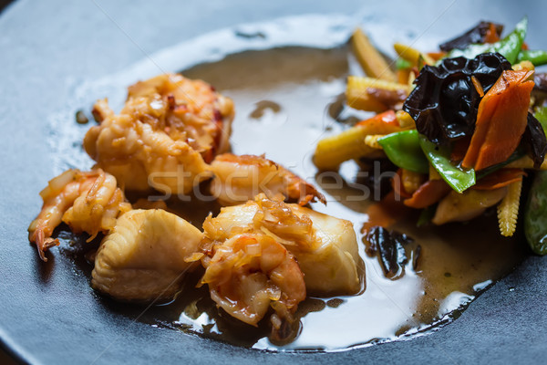 Japanese Cuisine - Ebi Tempura with Vegetables Stock photo © sarymsakov