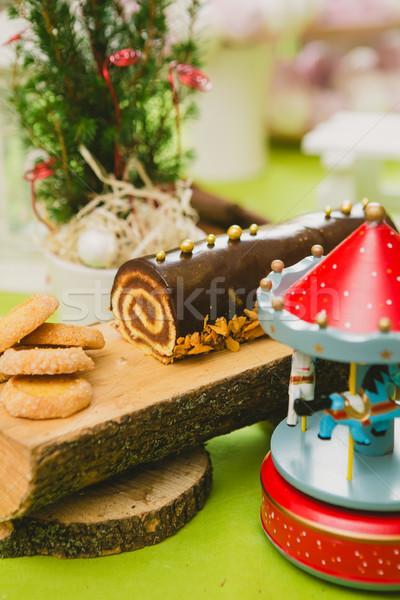 Stock fotó: Hagyományos · karácsony · torta · meleg · színek · szelektív · fókusz