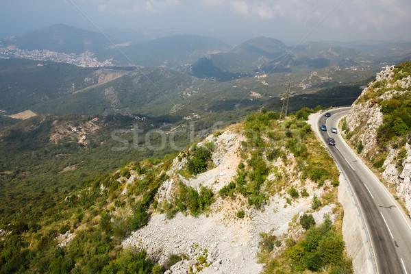 Berg weg Montenegro top hemel Stockfoto © sarymsakov