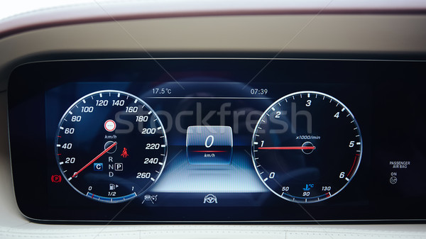 Luxury car dashboard Stock photo © sarymsakov
