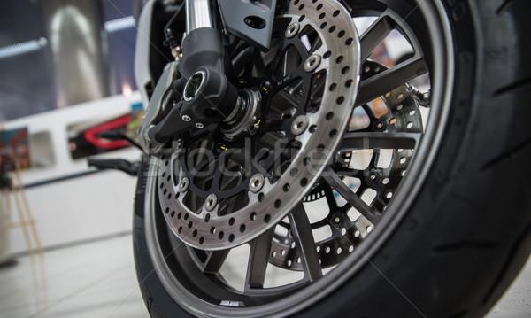 új fényes fék motorkerékpár sport törik Stock fotó © sarymsakov