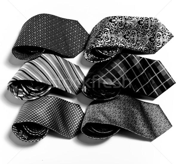 different set of luxury tie on white  Stock photo © sarymsakov