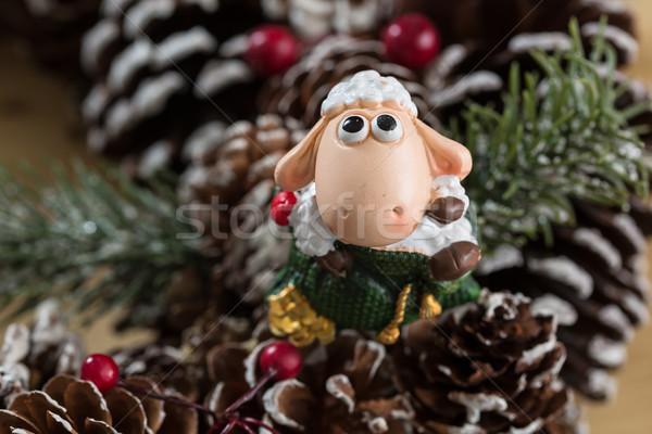 クリスマス 装飾 選択フォーカス 創造 背景 ストックフォト © sarymsakov