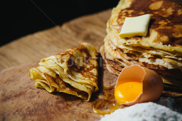 Russian traditional pancakes - blini Stock photo © sarymsakov