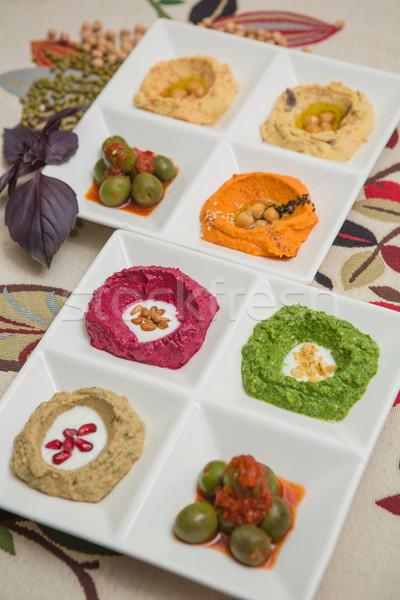 Heerlijk gezonde ingesteld witte voedsel brood Stockfoto © sarymsakov