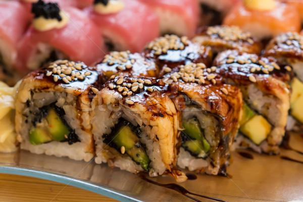 set of Japanese sushi Stock photo © sarymsakov