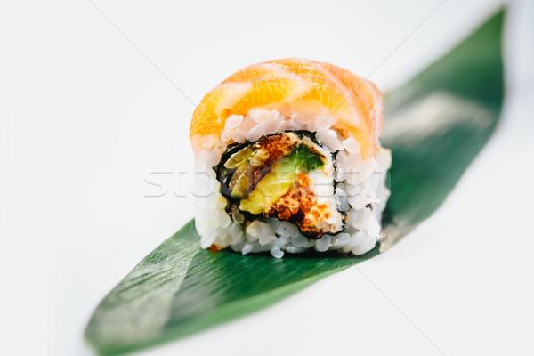 Zdjęcia stock: Tradycyjny · świeże · japoński · sushi · biały