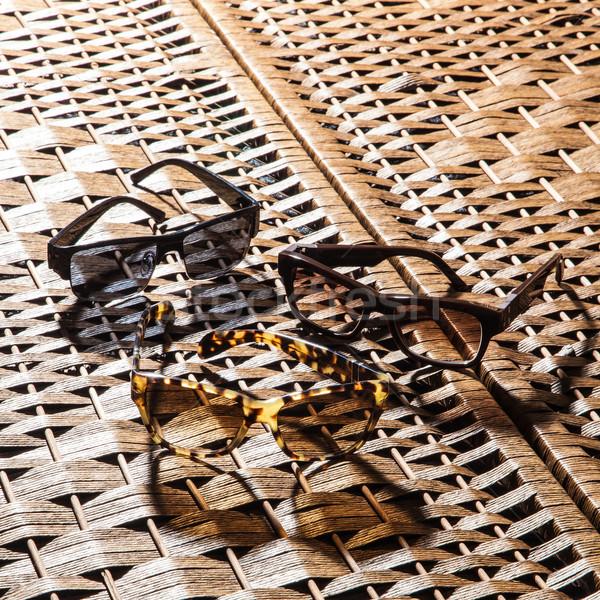 Gyűjtemény színes napszemüveg fehér divat nap Stock fotó © sarymsakov