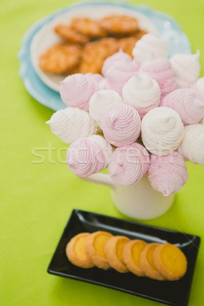 Casero rosa blanco malvavisco delicioso dulce Foto stock © sarymsakov