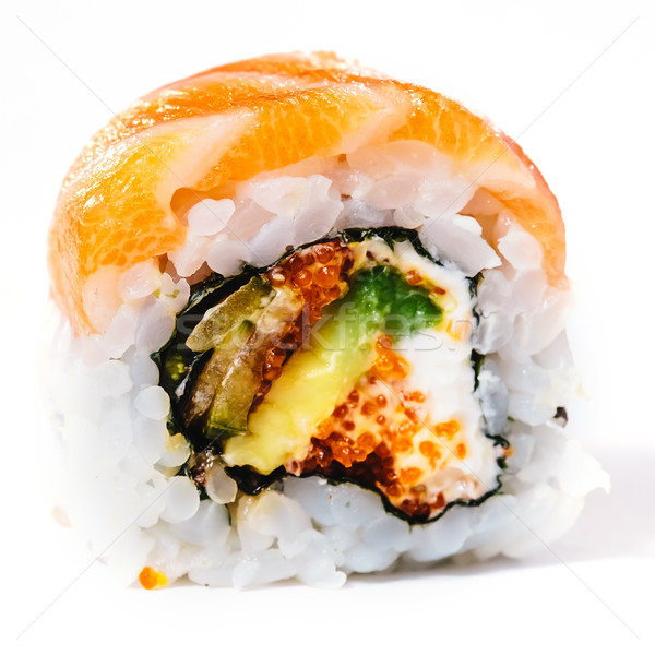 Geleneksel taze Japon sushi beyaz Stok fotoğraf © sarymsakov