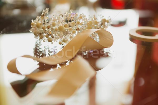 composition of wedding accessories bride Stock photo © sarymsakov