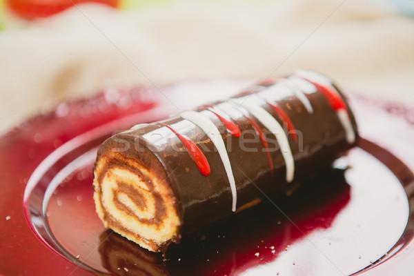 Geleneksel Noel kek sıcak renkler seçici odak Stok fotoğraf © sarymsakov
