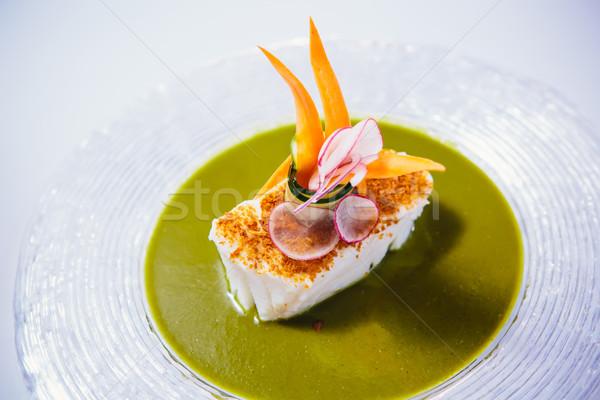 Stock photo: Fish dish