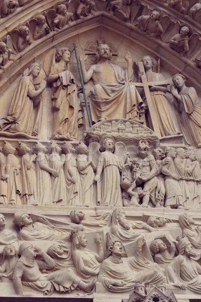 építészeti részletek katedrális hölgy Párizs híres Stock fotó © sarymsakov