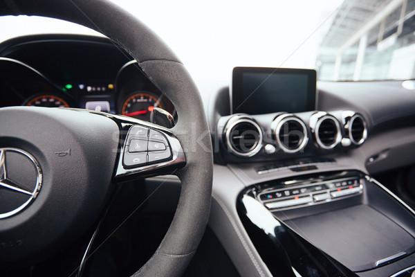 Controllo pulsanti volante auto interni poco profondo Foto d'archivio © sarymsakov