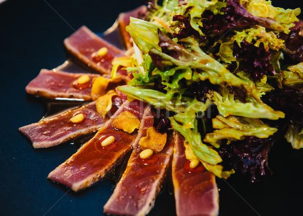 тунца стейк сашими традиционный Японский блюдо Сток-фото © sarymsakov