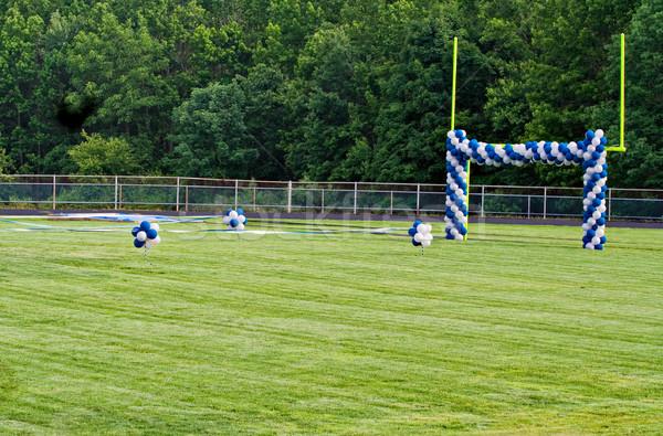 Goal Post and Balloons Stock photo © sbonk