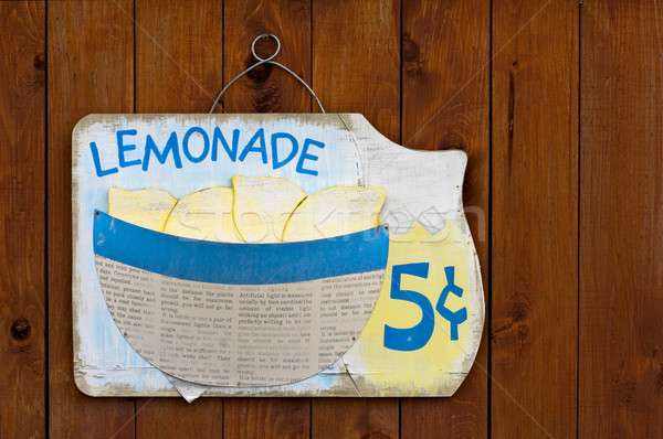 Lemonade Sign Stock photo © sbonk