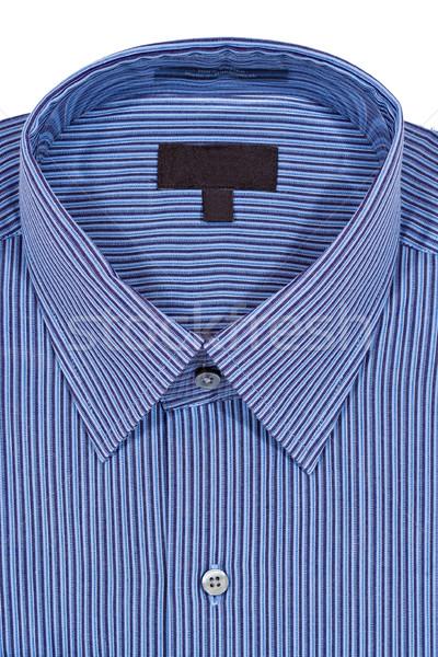 Niebieski sukienka shirt odizolowany biały tkaniny Zdjęcia stock © sbonk