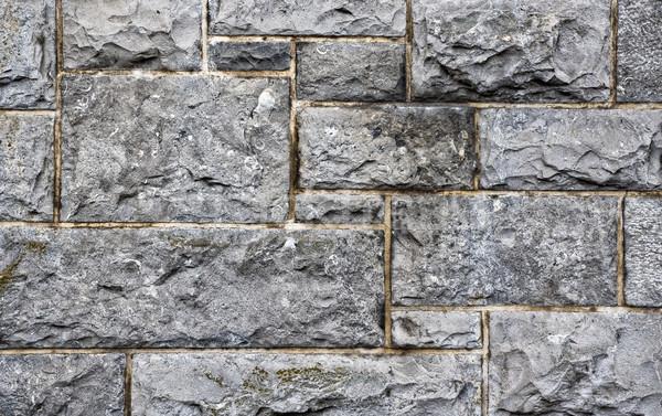 Murem mur szczegół wzorców tekstury ściany Zdjęcia stock © sbonk