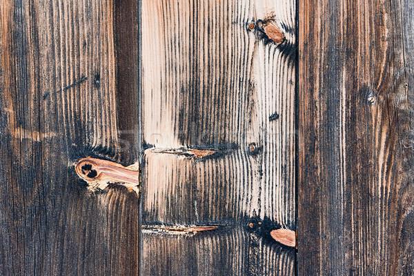 Hout tonen detail textuur patroon hek Stockfoto © sbonk