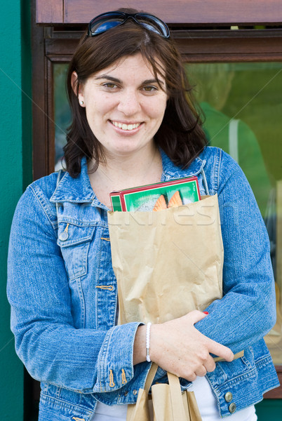 Young Lady with Package Stock photo © sbonk
