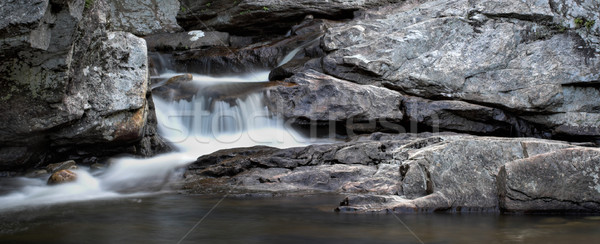 Waterval panorama klein rock formaat water Stockfoto © sbonk