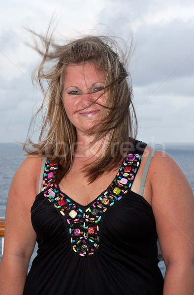 Young Woman with Hair Blowing in the Wind Stock photo © sbonk