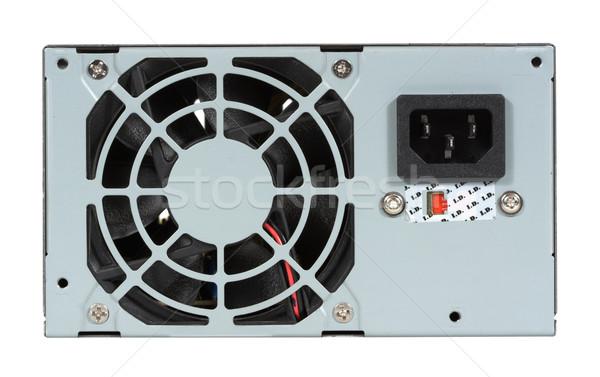 Ordinateur source de courant fan isolé blanche technologie Photo stock © sbonk