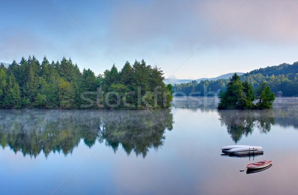 Mountain Lake in the Morning Stock photo © sbonk