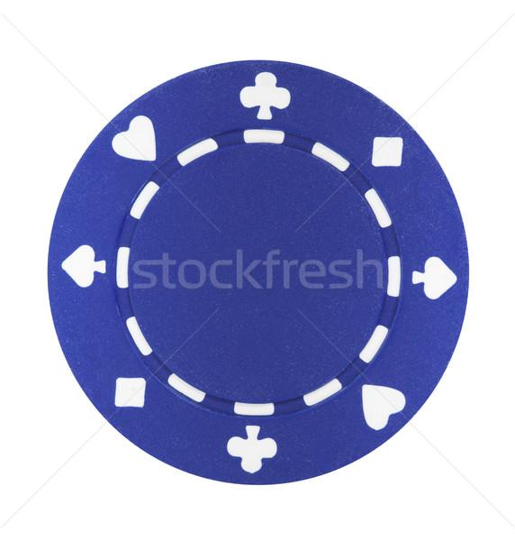 Blue Poker Chip Stock photo © sbonk