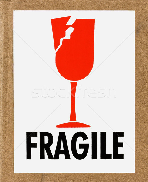 Fragile Label Stock photo © sbonk