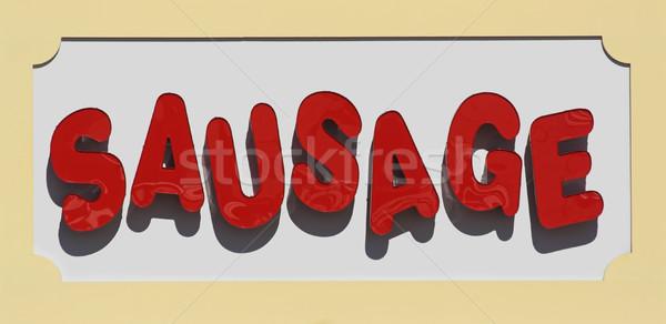 Sausage Sign Stock photo © sbonk