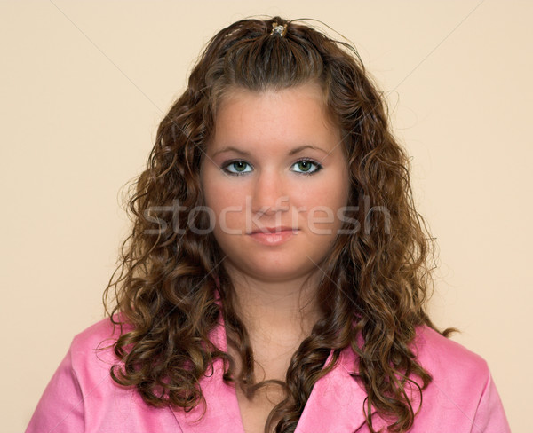 Portret głowie plecy dziewczyna brązowe włosy Zdjęcia stock © sbonk