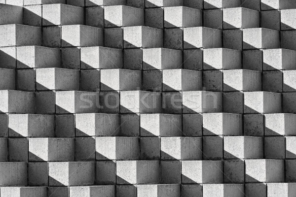Astract Bricks and Shadows in Black and White Stock photo © sbonk
