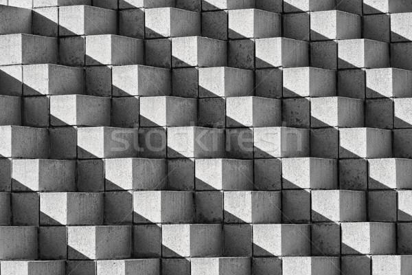 Ladrillos oscuridad blanco negro cara cuatro pirámide Foto stock © sbonk