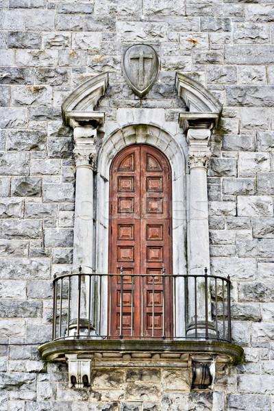 教会 バルコニー ドア 大聖堂 テクスチャ 建設 ストックフォト © sbonk