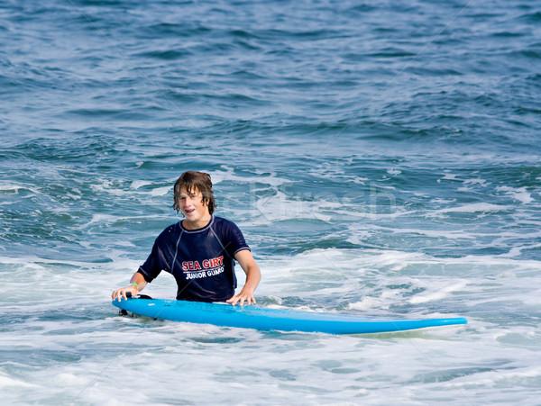 少年 サーフボード 立って 海 ボディ ストックフォト © sbonk