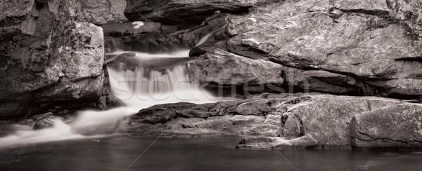 Waterval panorama klein rock formaat foto Stockfoto © sbonk