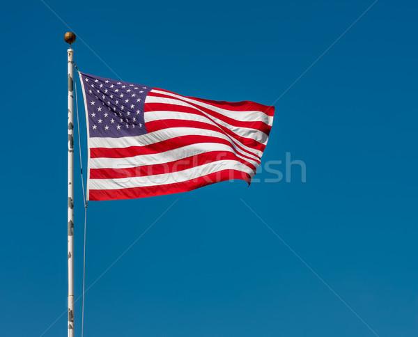 Amerikaanse vlag blauwe hemel sterren Blauw star Rood Stockfoto © sbonk