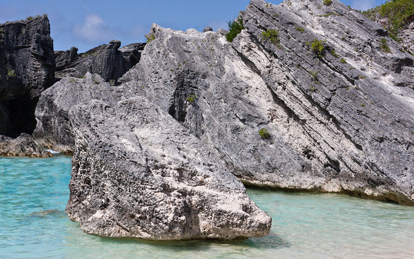 Boulders at Horseshoe Bay, Bermuda Stock photo © sbonk
